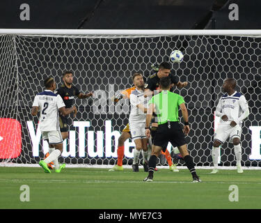 Los Angeles, CA, USA. 6th June, 2018. MLS 2018: Los Angeles Football Club vs Fresno FC at BANC OF CALIFORNIA Stadium in Los Angeles, Ca on June 6, 2018. Jevone Moore Credit: csm/Alamy Live News - Stock Photo