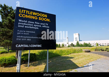 Edge Lane, Liverpool, UK. 7th June, 2018. Twickenham Studios has signed a deal with developer Capital & Centric to create a £50m Northern base in Edge Lane. The plan would see two new sound stages built next to the former Littlewoods Pools building, workshops, wardrobe and prop storage areas would be opened inside the art deco building. Liverpool is one of Britain's most popular filming destinations. Capital & Centric hope that, when full the complex could house 570 staff helping support some 2,000 jobs locally and bringing the local economy a £124m boost. Credit: Ken Biggs/Alamy Live News. - Stock Photo