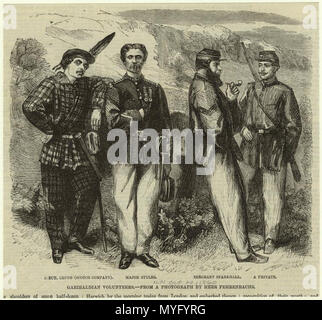 English: Image Title Garibaldian volunteers  Creator Morgan