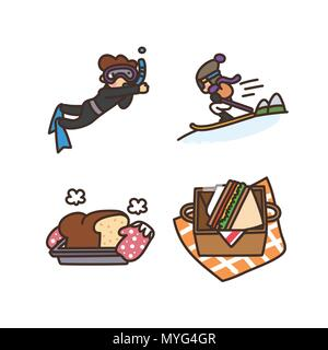Vector - Related to life and daily flat icon set.038 - Stock Photo