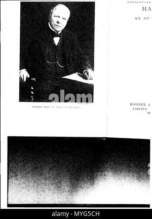 . English: Lord Richard Burdon Haldane, 1st Viscount Haldane of Cloan is portrayed sitting . 3 November 2014, 18:48:17. F. B. Maurice 228 Haldane1918 - Stock Photo