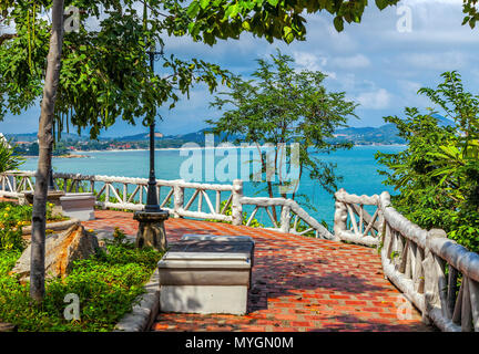 Observation platform on the island of Koh Samui in Thailand. - Stock Photo