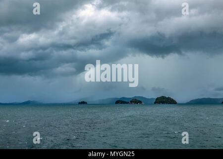 The rainy season on Koh Samui in Thailand - Stock Photo