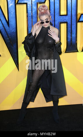 Feb 08, 2018 - Guest attending 'Black Panther' European Premiere at Hammersmith Apollo in London, England, UK - Stock Photo