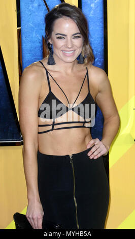 Feb 08, 2018 - Emma Conybeare attending 'Black Panther'  European Premiere at Hammersmith Apollo in London, England, UK - Stock Photo