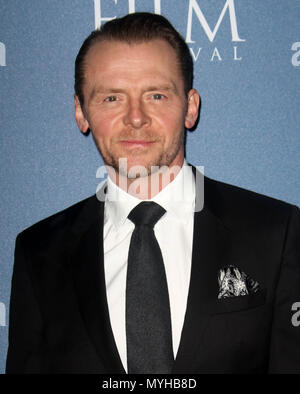 Feb 15, 2018 - Simon Pegg attending Newport Beach Film Festival 2018 UK Honours at Rosewood Hotel in  London, England, UK - Stock Photo