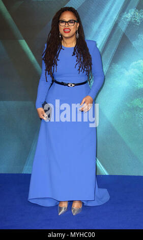 Mar 13, 2018 - Ava Duvernay attending the European  Premiere of A Wrinkle in Time at BFI IMAX in London, England, UK - Stock Photo