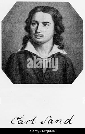 . Karl Ludwig Sand . circa 1820. Unknown 292 Karl Ludwig Sand - Stock Photo