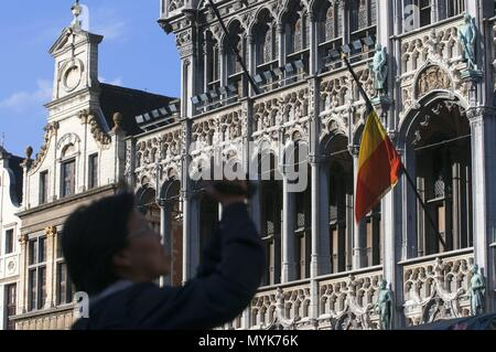 Maison du Roi or the King's House Palace on the Grand Place in Brussels, Belgium January 2018 | usage worldwide - Stock Photo
