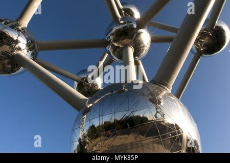 The Atomium monument designed by André Waterkeyn, Brussels, Belgium, Europe. January 2018 | usage worldwide - Stock Photo