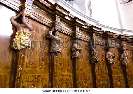 The High Cathedral of Saint Peter in Trier, Germany. Trierer Dom ist die älteste Bischofskirche Deutschlands und das bedeutende sakrale Bauwerk - Stock Photo
