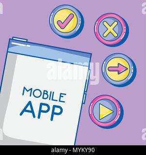 Mobile app technology - Stock Photo
