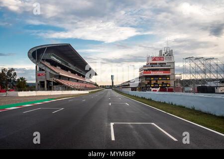 Circuit de Barcelona-Catalunya, motorsport race track in Montmeló, Barcelona, Catalonia, Spain. - Stock Photo