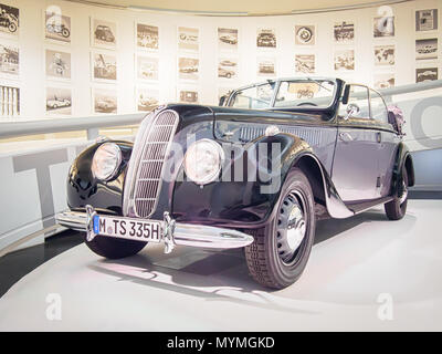 Munich Germany April 8 2017 1939 Bmw 335 In The Bmw Museum Stock