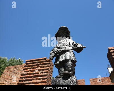 Pomnik Malego Powstanca / The Little Insurgent, Warsaw, Poland - Stock Photo