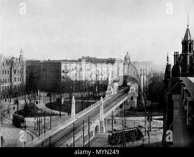 . English: The Nollendorfplatz in Berlin, 1903. View to subway-station. Deutsch: Der Nollendorfplatz in Berlin, 1903. Blick zur U-Bahn-Station. 1903. Unknown 391 Nollendorfplatz Berlin 1903 - Stock Photo