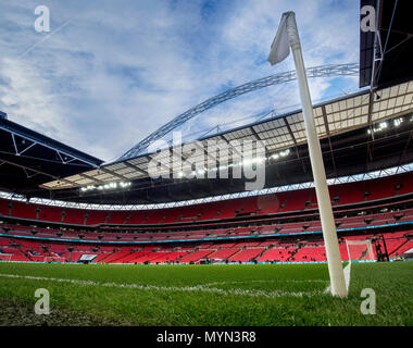 General view of Wembley Stadium prior to kick of during the International Friendly match between England and Italy - Stock Photo