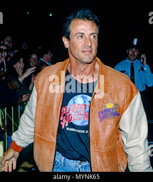 Washington, DC., USA, October 3, 1993  Sylvester Stallone attends the grand opening of the Planet Hollywood night club Credit: Mark Reinstein/MediaPunch - Stock Photo