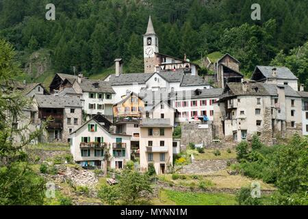 Europe, Switzerland, Ticino, Fusio, - Stock Photo