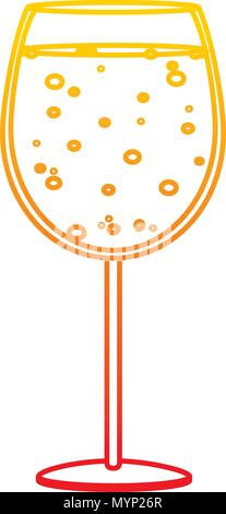 degraded line liquor brandy glass alcohol beverage - Stock Photo