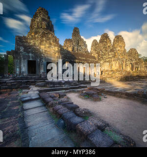 Ancient Gates of Bayon temple in Angkor complex
