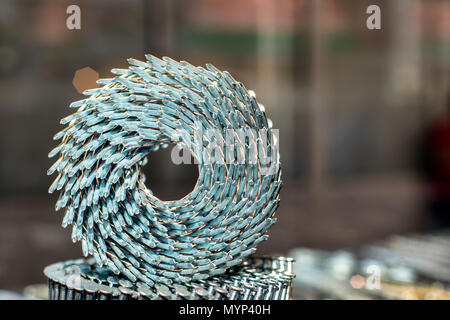 Concept - Nails in the shop window - Stock Photo