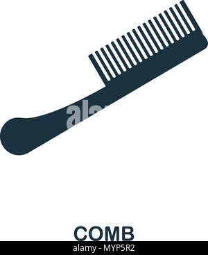 Comb icon. Flat style icon design. UI. Illustration of comb icon. Pictogram isolated on white. Ready to use in web design, apps, software, print. - Stock Photo