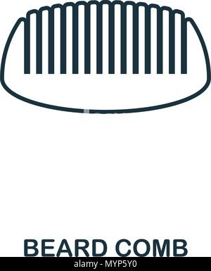 Beard Comb icon. Flat style icon design. UI. Illustration of beard comb icon. Pictogram isolated on white. Ready to use in web design, apps, software, print. - Stock Photo