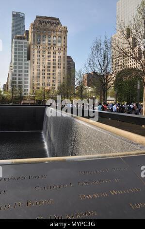 World Trade Center memorial - Stock Photo