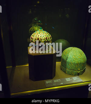 Vienna, Austria - October 22, 2017: Crown of Stefan Bocskay in the Imperial Treasury or Kaiserliche Schatzkammer at the Hofburg Palace - Stock Photo