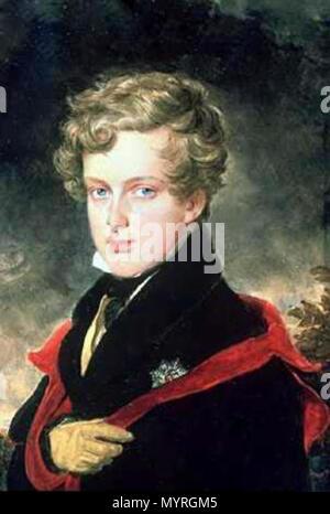 """.  Deutsch: Bildnis des Napoleon Franz Herzog von Reichstadt (""""Napoleon II.)"""" English: Portrait of Napoleon Franz, the Duke of Reichstadt (also known as Napoleon II). . before 1832 23 80 Napoleon II - Stock Photo"""