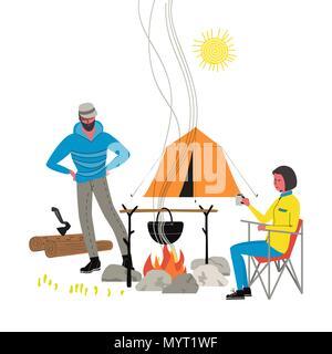 Campfire icon isolated - Stock Photo