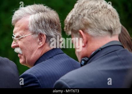 Washington DC, USA. 7th June, 2018. National Security Advisor John Bolton awaits a press conference with President Donald Trump and Japanese Prime Minister Shinzo Abe. Credit: Michael Candelori/Alamy Live News - Stock Photo