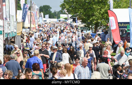 Ardingly Sussex UK 8th June 2018 - Huge crowds enjoy the sunny weather  at the South of England Show  held at the Ardingly Showground near Haywards Heath Sussex Credit: Simon Dack/Alamy Live News - Stock Photo