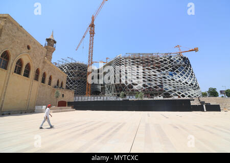 Beirut, Lebanon, 8th June 2018. A 5 storey  Department Store designed by the late world renowed  British  architect Zaha Hadid in Beirut Souks at a cost of $40million in  the central business district of Beirut is nearing completion. Credit: amer ghazzal/Alamy Live News - Stock Photo