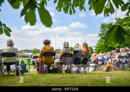 Ardingly Sussex UK 8th June 2018 - Crowds enjoy the sunshine at the South of England Show  at the Ardingly Showground near Haywards Heath Sussex Photograph by Simon Dack Credit: Simon Dack/Alamy Live News - Stock Photo