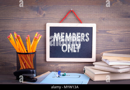 Members only, Business Concept - Stock Photo