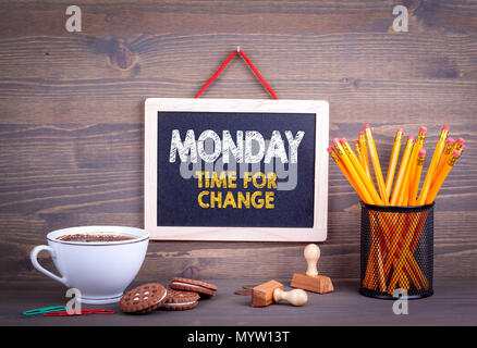 Monday time for change. Business Concept. - Stock Photo