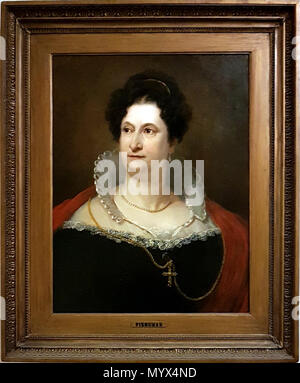 . English: Portrait of Dutch actress Johanna Cornelia Ziezenis-Wattier (1762-1827) by Jan Willem Pieneman. Of this portrait two versions exist, both in Stadsschouwburg, Amsterdam's municipal theatre on Leidseplein, Amsterdam, the Netherlands.  . 17 January 2018, 16:41:11. Jan Willem Pieneman (1779 – 1853) 12 Johanna Cornelia Ziezenis-Wattier (J W Pieneman, 1819) - trap - Stock Photo