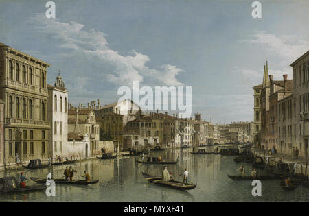 .  English: The Grand Canal in Venice from Palazzo Flangini to Campo San Marcuola . circa 1740 19 Canaletto (Giovanni Antonio Canal) - The Grand Canal in Venice from Palazzo Flangini to Campo San Marcuola - 68.41.11 - Minneapolis Institute of Arts - Stock Photo