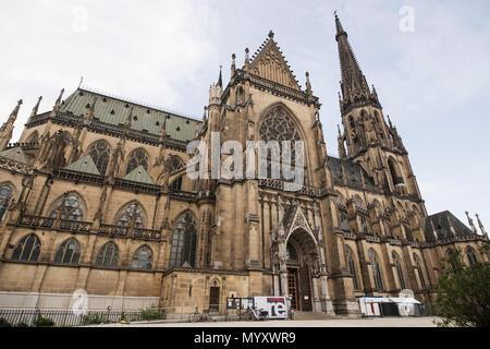 The New Cathedral (Mariendom) in Linz, Austria. - Stock Photo
