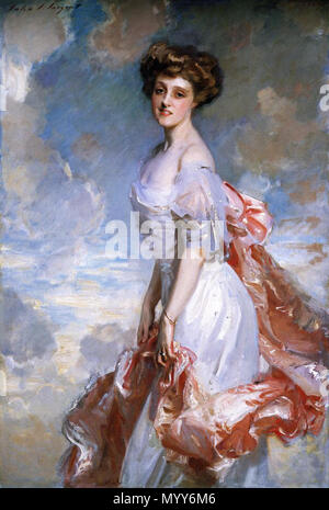 . English: Miss Mathilde Townsend John Singer Sargent -- American painter 1907 National Gallery of Art, Washington, D.C. Oil on canvas 152.7 x 101.6 cm (60 1/8 x 40 in.) Gift of the sitter, Mrs. Sumner Welles 1952.3.1 Jpg: National Gallery DC  . 1907. John Singer Sargent Born: January 12, 1856, Florence Died: April 14, 1925, London, United Kingdom 71 Miss Mathilde Townsend, 1907 - Stock Photo