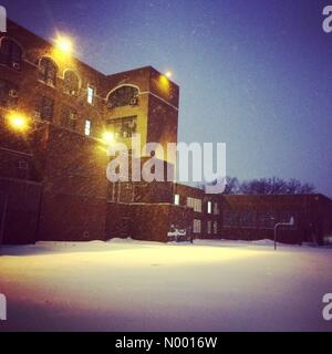 Brooklyn, New York, USA. 26th Jan, 2015. Snow in Brooklyn, New York before a blizzard on January 26, 2015. Credit: - Stock Photo