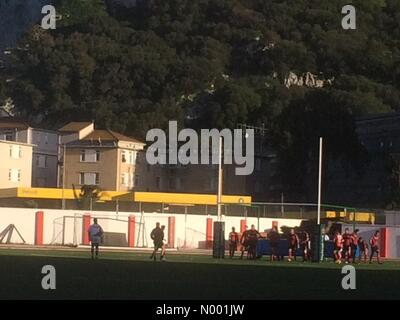 Gibraltar, Gibraltar. 07th Mar, 2015. Gibraltar- 7th March 2015 - Malta get another two tries through defensive - Stock Photo