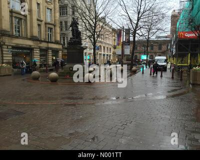 Manchester, Manchester, UK. 28th Mar, 2015. 28th March 2015; another rainy weekend in Manchester Credit:  Jonny - Stock Photo
