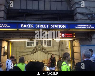 London, UK. 15th July, 2015. Baker Street tube station evacuated due to suspected emergency Credit:  Stephen Chung - Stock Photo