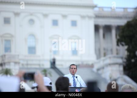 Washington, DC, USA. 09th Sep, 2015. Ted Cruz speaks at the rally against the Iran nuclear deal on the West Lawn - Stock Photo