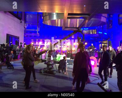 Langham St, London, UK. 16th Nov, 2015. Jess Glynne & Tom Daley on The One Show outside the BBC tonight Credit: - Stock Photo