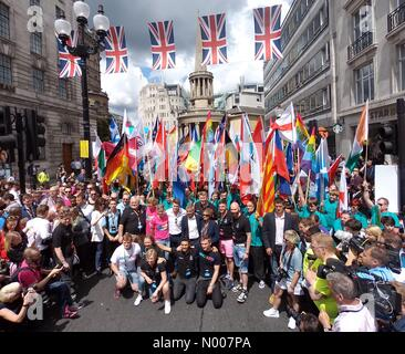 London, UK. 25th June, 2016. Sadiq Khan at Pride Parade London Credit:  Paul Brown / StockimoNews/Alamy Live News - Stock Photo