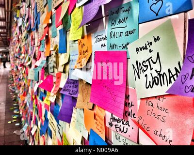 """New York, New York, USA. 15th Nov, 2016. An art instalation called """"Subway Therapy"""" inside Union Square - Stock Photo"""